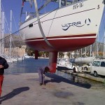 Winter services yacht charter fleet at Trogir