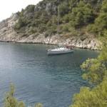 Free mooring in hiden bay...
