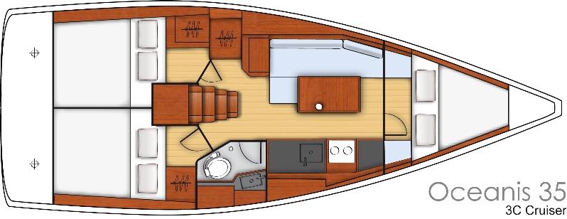 Oceanis 35-layout