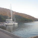 "In front of hotel ""Solitudo"" moorings"
