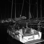 Night arrival in ACI marina Split