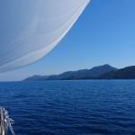 Passing island Mljet