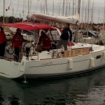 Oceanis 35 has heating which is good for winter sailing