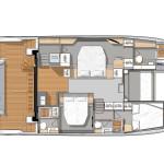 MY 44 3 cabin version